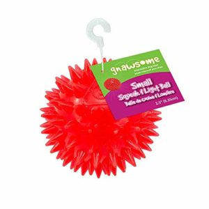 Gnawsome Spiky Squeak Light Ball Dog Toy - Small 6 thedogdaily.com