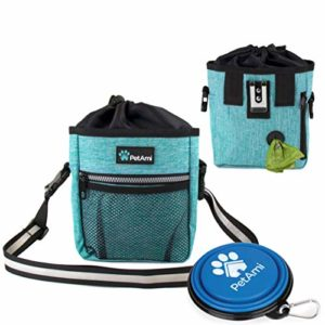 PetAmi Dog Treat Pouch with Poop Bag Dispenser and Collapsible Bowl 6 thedogdaily.com